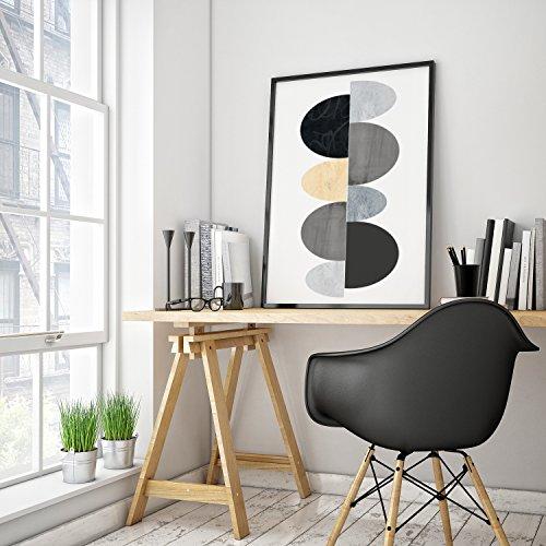 The Art & Wood. Quadro motivo geometrico. poster Arte scandinavo. Decorazione Casa Stile Nordico.