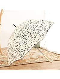 Paraguas Plegables Pequeño Fresco Paraguas Largo Curvado Mango Largo Paraguas Estudiante Chica Japonesa Paraguas del corazón