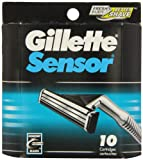 Gillette Sensor Ersatz-Klingen, 10 Stück