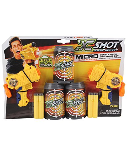 X-Shot Micro Dart Blaster Double Pack Shootout Set by Excel by XShot