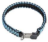 TierXXL.de Herm. Sprenger Paracord Halsband mit ClicLock, Farbe: schwarz/blau, Halsumfang: 55cm (59344 055 00)