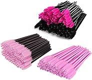 Amoued 200 Pcs Disposable Mascara Eyelash Wands Brush, Multi Color Spoolies Eyelash Wand, Eye Lash Makeup Appl