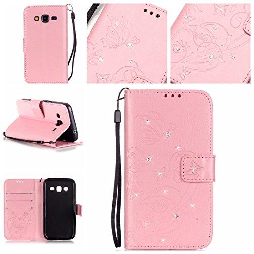 Générique, Mädchen Squashschuhe  Pink papillon Samsung Galaxy Core Prime SM-G360 G361