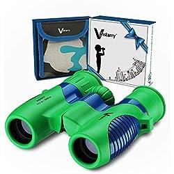 Jumelles pour Enfants 8x21 par Vanstarry - Jumelles Compactes Anti-Choc pour Les Garçons Et Les Filles avec De Vraies Optiques à Haute Résolution - Idéal pour l'observation des Oiseaux, Voyage