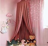 Prinzessin hängende Kuppel Moskitonetz Licht blockiert Vorhänge Betthimmel, Mädchen Schlafzimmer Nacht Zelt, Baby Bettwäsche Kuppelzelt, Heimtextilien spielen Lesezelt, rot