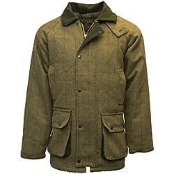 Chaqueta de tweed de Walker and Hawkes, para hombre, para caza, color salvia, trenca, Hombre, color Light Sage, tamaño Large