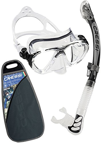 Cressi Big Eyes Evolution & Kappa Ultra Dry Schnorchel - Pack de snorkel (tubo y gafas), color negro