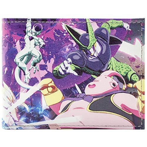 Super Anime Series Black ID & Card Bi-Fold Wallet