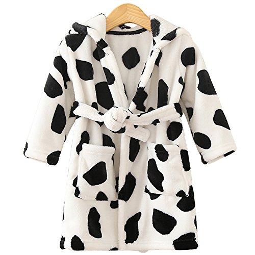 Fancyus - Albornoz - para niña Negro Vaca