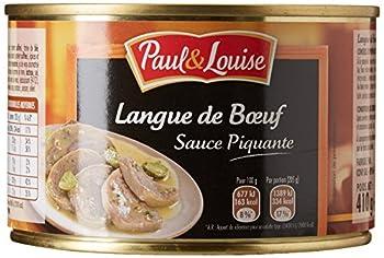Paul & Louise Langue de B½uf Sauce Piquante 410 g - Lot de 3