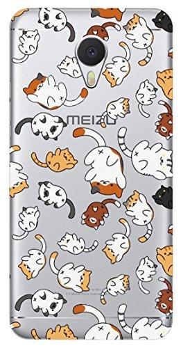 Mixroom - Cover Custodia Case In TPU Silicone Morbida Per Meizu M5S T460 Cucciolini Di Gatto