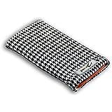 Norrun Audrey Handytasche Tasche aus Textil-Stoff maßgeschneidert mit Strahlenschutz, Mikrofasereinlage ersetzt die Handy-Tasche von Hersteller / Modell HTC One M9