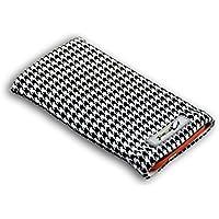 Norrun Handytasche / Handyhülle # Modell Audrey # ersetzt die Handy-Tasche von Hersteller / Modell LG KE850 PrLindis # maßgeschneidert # mit einseitig eingenähtem Strahlenschutz gegen Elektro-Smog # Mikrofasereinlage # Made in Germany