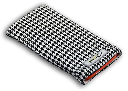 Norrun Handytasche / Handyhülle # Modell Audrey # ersetzt die Handy-Tasche von Hersteller / Modell Samsung SGH-Z300 # maßgeschneidert # mit einseitig eingenähtem Strahlenschutz gegen Elektro-Smog # Mikrofasereinlage # Made in Germany