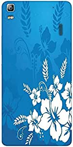 Snoogg Abstract Vector Wallpaper Of Floral Themes In Blue Designer Protective...