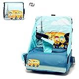 2 en 1 plegable portátil asiento de viaje multifuncional bebé hombro mochila pañales bolsa para bebé ultra compacto ajustable maternidad pañales bolsas para silla de comedor de viaje