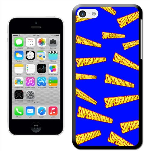 Fancy A Snuggle 'Super Großvater Fathers Day Birthday Gift' Hard Case Clip On Back Cover für Apple iPhone 5C Supergrandad Fathers Day Birthday Gift