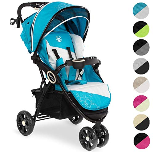 Froggy® Kinderbuggy DINGO Kinderwagen Buggy Jogger ultraleicht 5-Punkt-Sicherheitsgurt kompakt zusammenklappbar Liegefunktion Sonnenverdeck Tropical