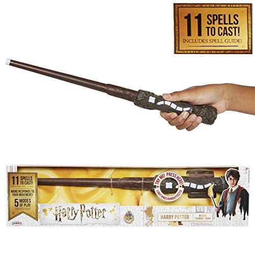 Jakks Pacific-Exclusiva varita de Harry Potter con hechizos interactivos Mágica, color con luces y sonido y una… 3