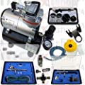 Airbrush-Set AS-189-A Komplett-Set Kompressor Set 11tlg. Mit 3 Pistolen von maxxi-shop24.de auf TapetenShop
