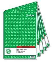Sigel formulaires – Contenu de billets de A4 Papier carbone, 3 x 40 feuillets 5 Stück