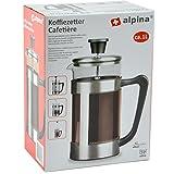 Alpina 871125297953 Kaffeemaschine, Circa 1 L, Edelstahl, Silber, 16,5 x 10 x 21,5 cm