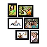#7: Amazon Brand - Solimo Collage Photo Frames (Set of 6, Wall Hanging),Black