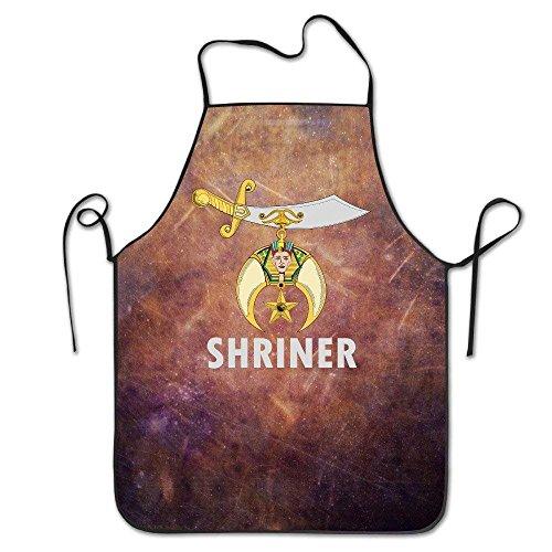 tgyew 2019 Apron Funny Apron Chef Kitchen Cooking Apron Bib Logo of Shriners International Cooking Easy Care (Pocket Logo Jean)