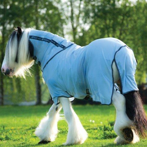Horseware Amigo BUG RUG XL - Azure Blue with Gunmetal & Bluebell, Groesse:170