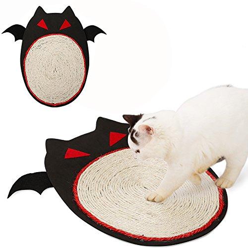Halloween Fledermaus Design Sisal Natur Cat scrather Cat Kitty scrathing Matte Pet Spielzeug Home Möbel Schutz (Gesunde Halloween Platte)