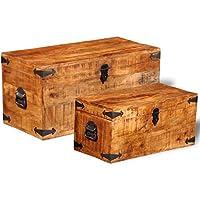 Luckyfu Set 2 Holzachsen Ruvido Mango für Lagerung Maße Erstes Gehäuse: 70 x 35 x 35 cm (B x T x H) Aufbewahrungskiste... preisvergleich bei billige-tabletten.eu