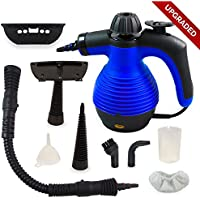 Comforday Limpiadora a vapor portátil multiusos con 9 piezas de accesorios para remover manchas, tapetes, cortinas, control contra pulgas, sillas de coche y enchufe EU