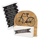 itenga Geldgeschenk oder Gastgeschenkverpackung Fahrrad Vintage mit Stickerbogen aus Karton 12x11,5cm
