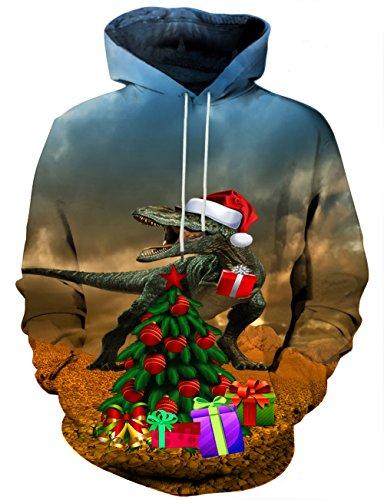 LAIDIPAS Unisex Realistische 3D Galaxy bedruckte große Taschen Drawstring Pullover Hoodie Kapuzen Sweatshirt Style 31
