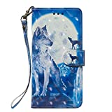Huawei Y6 2018 Case, Flip PU Leather Wallet Phone Case Soft