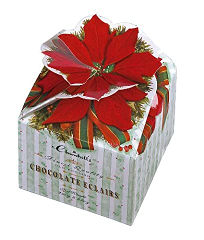 Churchill's Poinsettia Boxes with Chocolate Eclairs 250 g (Pack of