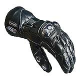 Newfacelook in cuoio nero Biker Moto Moto guanti impermeabili