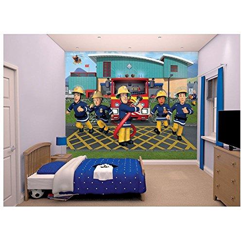 Sam Le Pompier - Fireman Sam - Walltastic Peinture Murale - Image de Fond D'écran - Mural de Photos 2,44 x 3,05 m