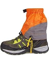 boldion (TM) Outdoor Gamaschen Silikon beschichtete Nylon Wasserdicht Ultralight Gamaschen Bein Schutz Guard Wandern Klettern Trekking Gamaschen