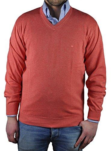 Redmond - Herren Pullover mit V-Ausschnitt in verschiedenen Farben (Art.Nr.: 600) Rot(500)
