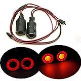 Axspeed 17mm 2 LEDs Angel Eyes Light Licht Scheinwerfer / Rücklicht für 1:10 RC Crawler Car (Rot + Gelb)