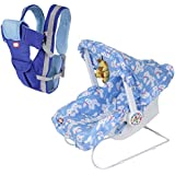 [Sponsored]!!! Dash Launching Combo Offer !!! Multifunctional Baby Carrier (Blue) And Baby Carry Cot-9 In 1