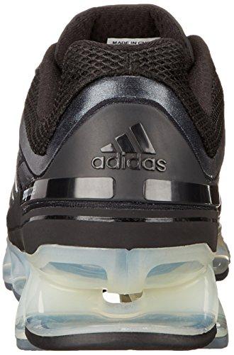 Adidas Springblade Running Shoe, Bleu solaire / argent / noir, 7 nous Core Black / Metallic Silver / Lead