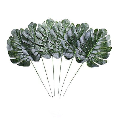 Kunstpflanze Blätter Fake Schildkröte Simulation Palm Fern Plant, Tree Leaf für Home Tisch Schreibtisch Party Hochzeit Garten Büro Terrasse Dekoration ()