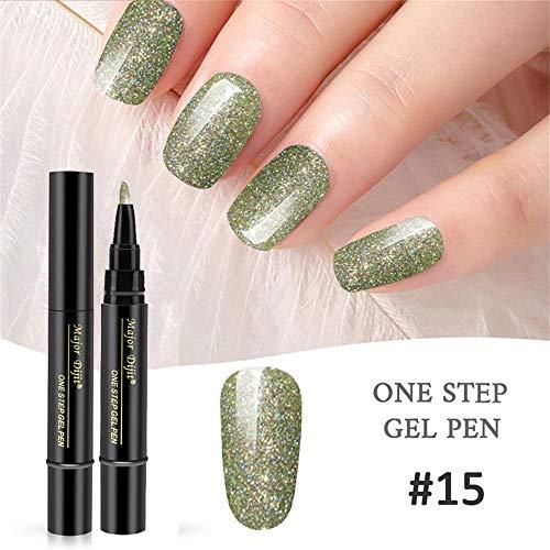 Nagellack-Stift,Jaerio 1 Pc 3 In 1 Schritt Nagelgel Lacklack Pen One Step Nagel UV Gel 2019 verwenden