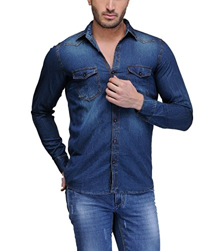 Feed-Up-Mens-Denim-Shirt