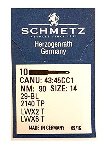 1,69 € / St. SCHMETZ 10 Maschinen- Nadeln gebogen* Blindstich System LWx6T / 29-BL Nm90 …