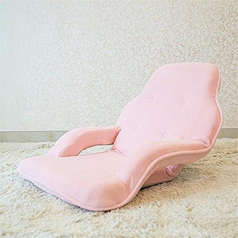 XXFFH® Falten Lazy Sofa Eine Person, Fußstühle, Computer Stuhl, Falten Einzelbett, Coral Samt Stoff Weiche Schwamm Multifunktions-180 ° frei zu justieren, Abnehmbare Reinigung, Anwendbare Studie Schlafzimmer leben r , pink