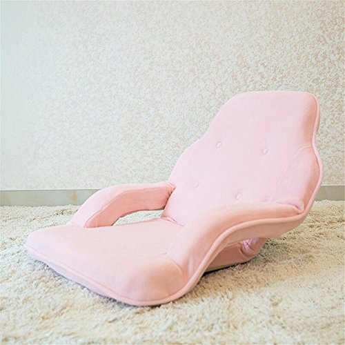 Rattan, Ohne Armlehnen Stuhl (XXFFH® Falten Lazy Sofa Eine Person, Fußstühle, Computer Stuhl, Falten Einzelbett, Coral Samt Stoff Weiche Schwamm Multifunktions-180 ° frei zu justieren, Abnehmbare Reinigung, Anwendbare Studie Schlafzimmer leben r , pink)