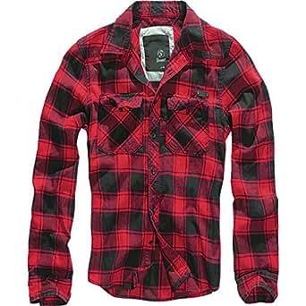 Brandit Lumberjack Check Brushed Cotton Shirt Red / Black (S)